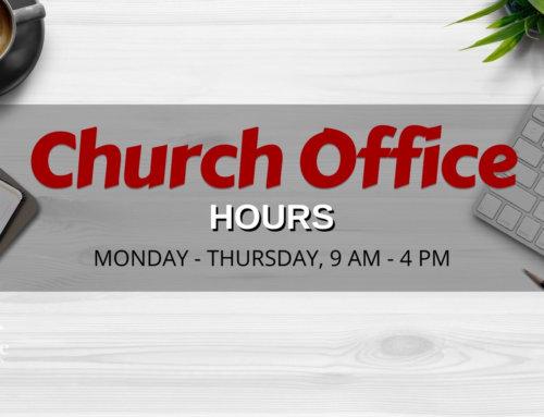 Resumption of Regular Office Hours