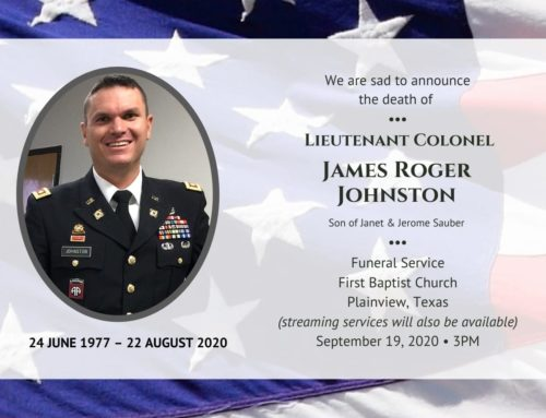 Obituary for LTC James Rogers Johnston