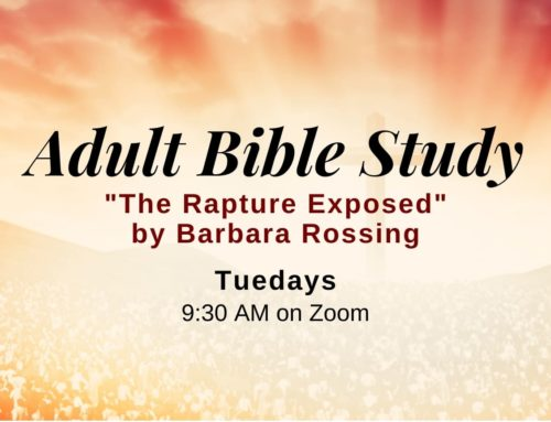 Tuesday Morning Adult Bible Study – Spring Session 2021