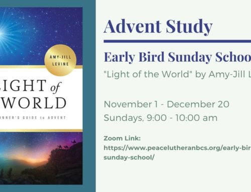 Early Bird Sunday School Advent Study 2020