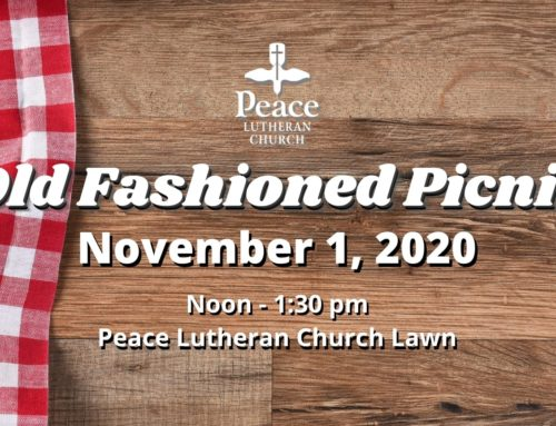 Old-Fashioned Church Picnic – All Saints Day November 1, 2020