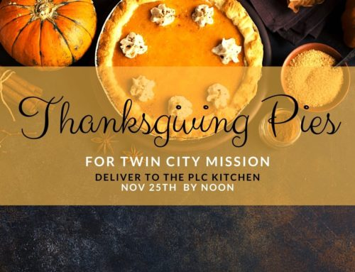 Twin City Missions Thanksgiving Pies 2020