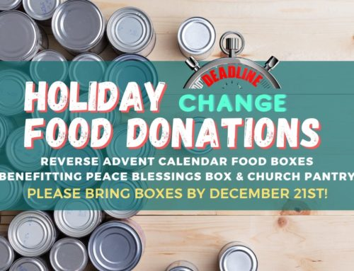 Holiday Food Donations – Deadline Change