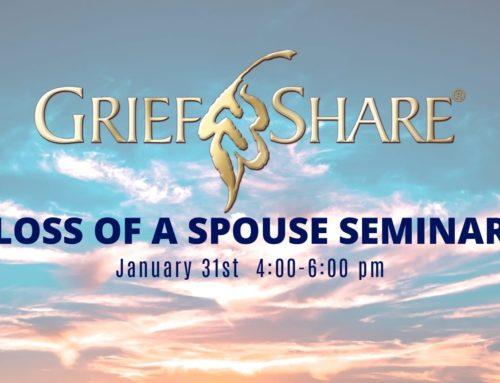Loss of A Spouse Seminar on January 31, 2001