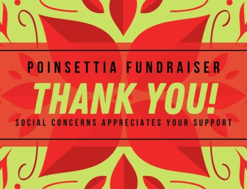 Poinsettia Social Concerns Fundraiser Thanks