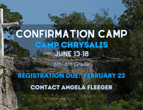 2021 Confirmation Camp – Registration